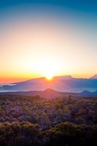 Beautiful Morning Sky Landscape Sunshine 5k