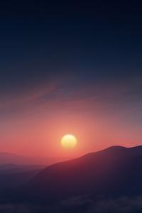 Beautiful Morning Sunrise Contour 8k