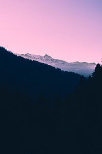 320x480 Beautiful Mountains Landscape Pink Tone