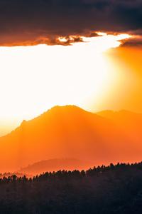 Beautiful Sunrise On Mountains 4k