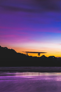 1080x2280 Beautiful Sunset Lake 4k