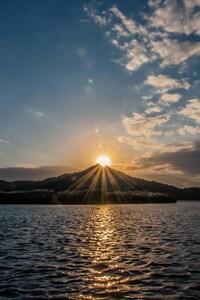 Beautiful Sunset Over Lake