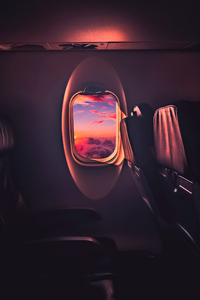1242x2688 Beautiful Sunset Through Airplane Window