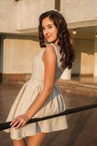 Beautiful White Skirt Girl