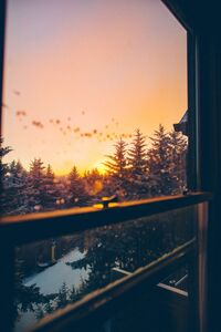 320x480 Beautiful Winter View From Window 5k
