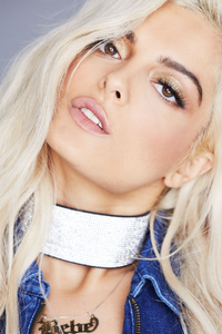 Bebe Rexha Face Closeup Portrait