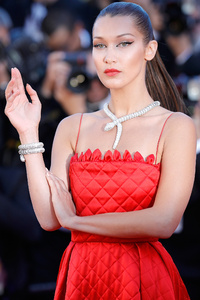 Bella Hadid Red Dress Cannes 2017