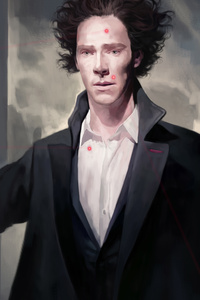 Benedict Cumberbatch And Martin Freeman Sherlock Artwork