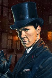 Benedict Cumberbatch And Martin Freeman Sherlock Holmes Artwork 5k