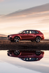 640x1136 Bentley Bentayga V8 Side View 2018