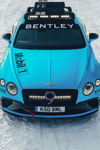 1242x2688 Bentley Continental Gt Ice Race 5k