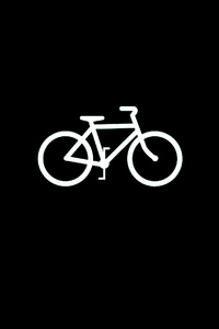 Bicycle Dark Black Minimal 4k