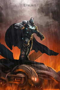 Big Batman On Batmobile