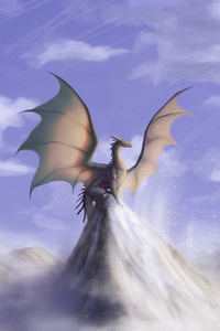 240x320 Big Dragon On Mountain
