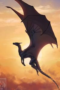 Big Dragon Opened Wings