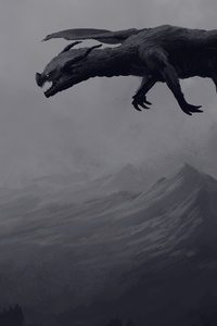 Big Giant Black Dragon 4k