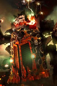 2160x3840 Big Kustom Beauty Da Morkanaut Warhammer 40000 dawn of war III