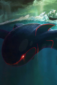 750x1334 Big Kyogre Pokemon 4k