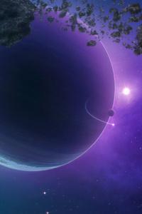 640x960 Big Planets 4k