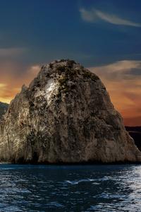 320x480 Big Rock Ocean 8k