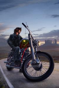 Bike Rider Digital Art 5k