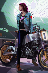 240x320 Bike Rider Girl 4k