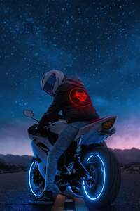 1280x2120 Biker 4k