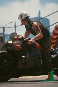 Biker Boy Cyberpunk 2077 4k