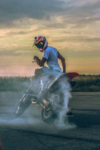 640x1136 Biker Donut 4k