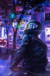 240x320 Biker Dreamy World