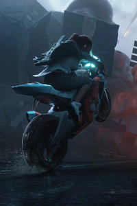 800x1280 Biker Girl Chaos