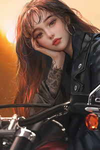 Biker Girl Woman 5k