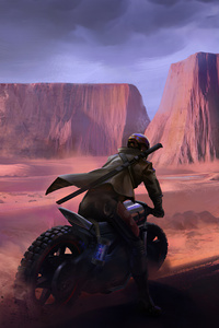 640x960 Biker Man Mountains 4k