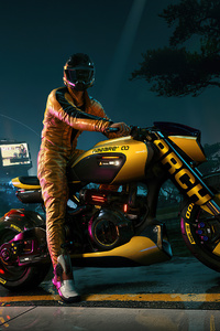 Biker Scifi Cyberpunk 2077 4k