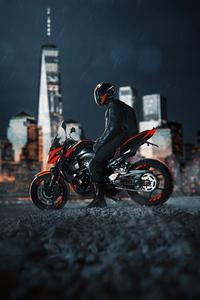 1280x2120 Biker With Gears On 4k