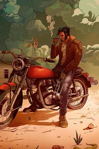 1440x2560 Biker Wolverine