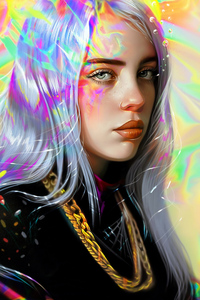 240x320 Billie Eilish Art 5k