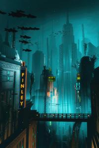 800x1280 Bioshock Game Underwater 4k