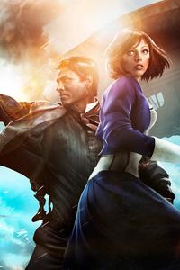 Bioshock Infinite Booker Dewitt And Elizabeth 8k