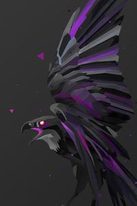 2160x3840 Bird Fractal Art 5k