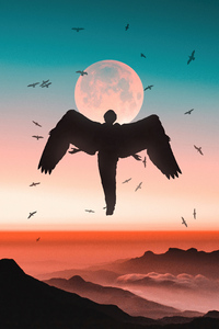 Bird Human 4k
