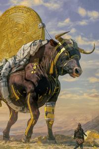2160x3840 Bitcoin Bull 4k