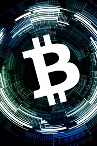 1440x2960 Bitcoin Logo Black Background 4k