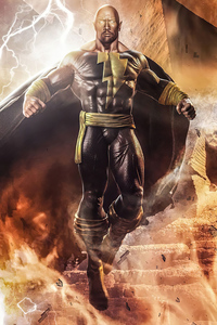 640x960 Black Adam 4k Artwork