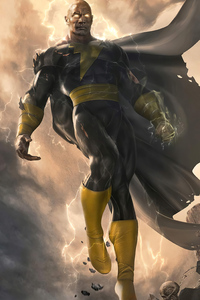 640x1136 Black Adam Dwayne Johnson