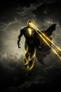 Black Adam Laser Eyes 4k