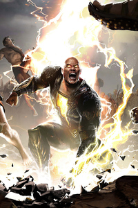 1242x2688 Black Adam Movie 2021