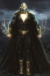 Black Adam Rock 4k