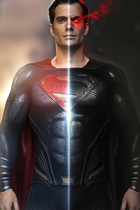 320x568 Black And Blue Superman