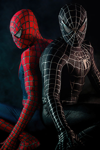 480x854 Black And Red Spiderman Suit Cosplay